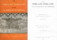 "Book cover, ""The Phra Lak-Phra Lam, or the Lao version of the Ramayana"""