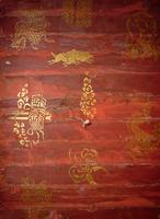Vat Chom Phet stencils, image hall interior ceiling, multiple subjects