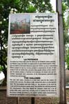 Tuol Sleng, plaque with information about torture device
