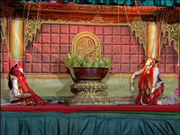 Burmese Marionettes (Part 02) - The Typical Traditional Items, the Nats or Good Spirits Dance