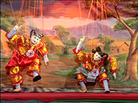 Burmese Marionettes (Part 06) - The Master's Creativities in Displyaing a Magnificient and Artistic Dance; Two Royal Pages Dance