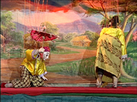 Burmese Marionettes (Part 07) - A Couple Dance; The U Shwe Yoe and Daw Moe Dance