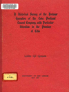 A Historical Study of the Postwar Operation of  the Cebu Portland Cement Company, With Particular Attention to the Province of Cebu