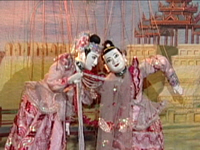 Burmese Marionettes (Part 09) - Duet Dance of the Prince and the Princess, Myaing Da Dance